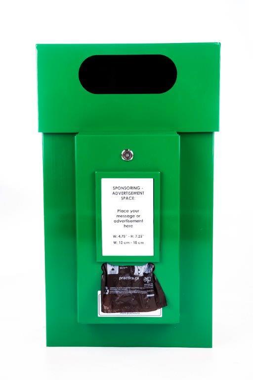Waste Bin with Sponsoring Dispenser for Advertisement (Item #502/504)